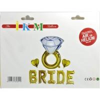 Bride Balon Set gold-gümüş
