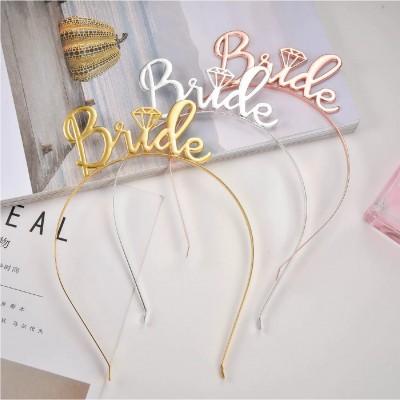 Bride Metal Taç Gold-Gümüş-Rosegold