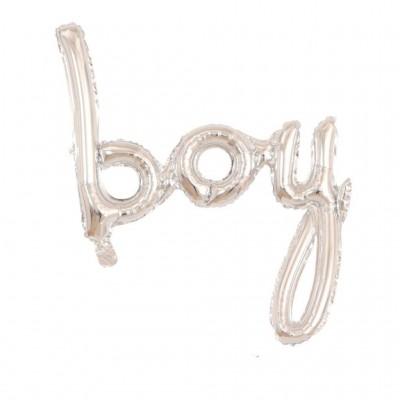 Boy Folyo Balon İmza Gümüş