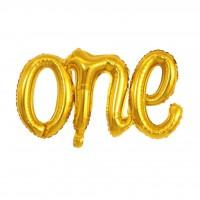one Folyo Balon Gold-gümüş